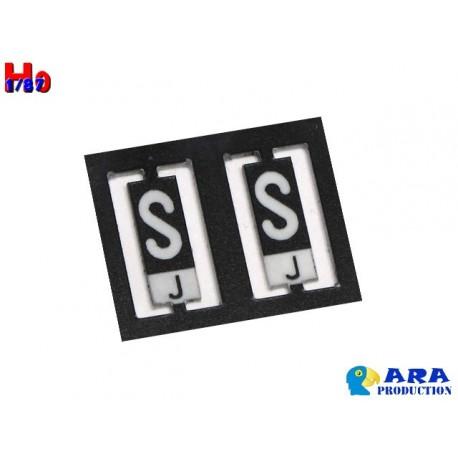 SNCF 2 plaques S et J [HO] - MAKETIS