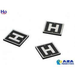 SNCF 3 plaques H [HO]