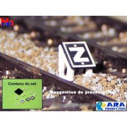 SNCF TIV 30 pour entrevoie réduite (pancartes Z,R et 30)