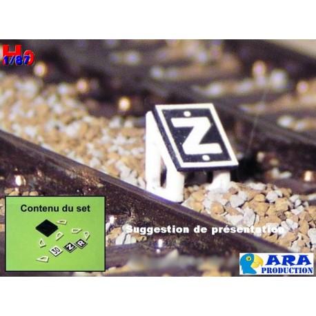 SNCF TIV 30 pour entrevoie réduite (pancartes Z,R et 30) [HO] - MAKETIS