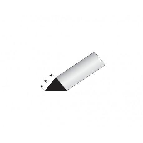 Profilés blanc super styrène triangle 90° 4/7mm 1000 mm Maquett