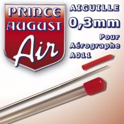Aiguille 0,3 pour aérographe A011 Prince August PAAA003 - MAKETIS