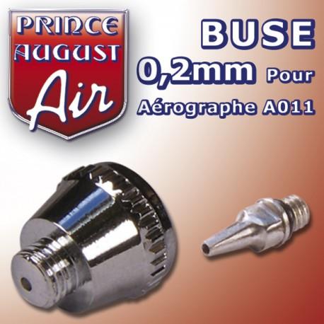 Buse 0,2 pour aérographe A011 Prince August PAAA012 - MAKETIS