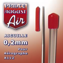 Aiguille 0.2 mm pour aérographe A112 Prince August PAAA102 - MAKETIS
