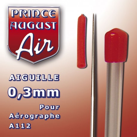 Aiguille 0.3 mm pour aérographe A112 Prince August PAAA103 - MAKETIS