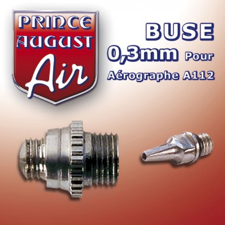 Buse 0.3mm pour aérographe A112 Prince August PAAA113 - MAKETIS