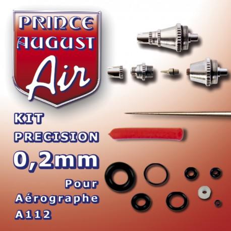 Kit de précision 0.2mm pour aérographe A112 Prince August PAAA122 - MAKETIS