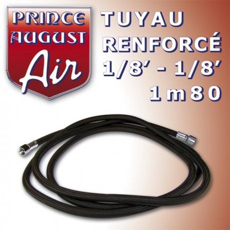 Tuyau renforcé1/8'-1/8' 1m80 Prince August PAAAG40 - MAKETIS