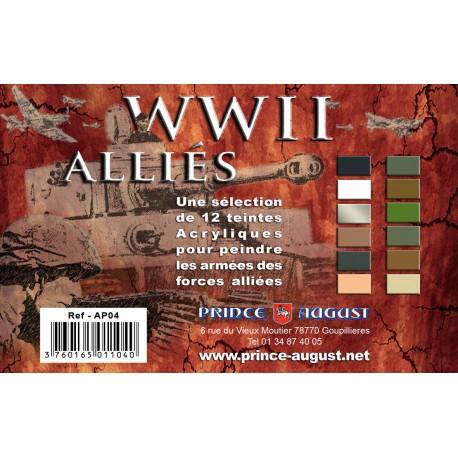 Pack WWII Alliés 12 Teintes PAAP04 - MAKETIS