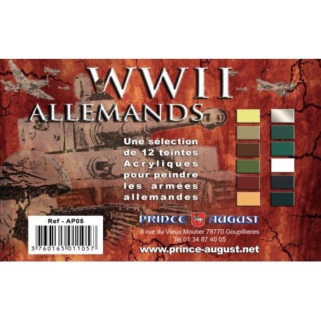 Pack WWII Allemands 12 Teintes PAAP05 - MAKETIS