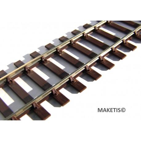 Voie SMP HO Code 75 Maillechort - MAKETIS