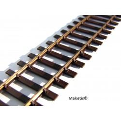 Voie SMP HO Code 75 Bronze bruni - MAKETIS