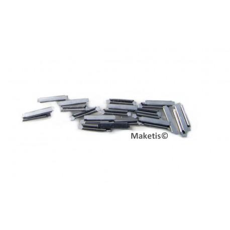 Eclisses SMP HO code 75, 24 pièces - MAKETIS