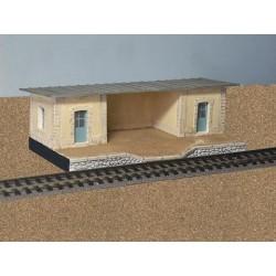 Abri de quai toit zinc
