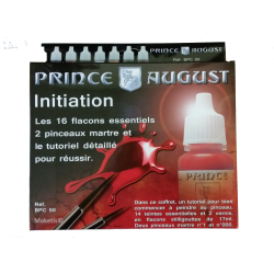 Coffret d'initiation Prince August Classic 16 flacons et 2 pinceaux