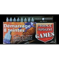 Coffret de démarrage Prince August Games 8 flacons.