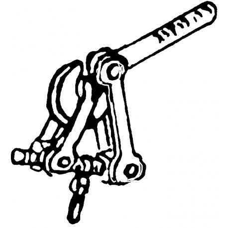Attelage standard monté, 2 pièces, HO Weinert 8631