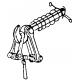 Attelage à vis avec ressort, monté, 2 pièces, HO Weinert 8633