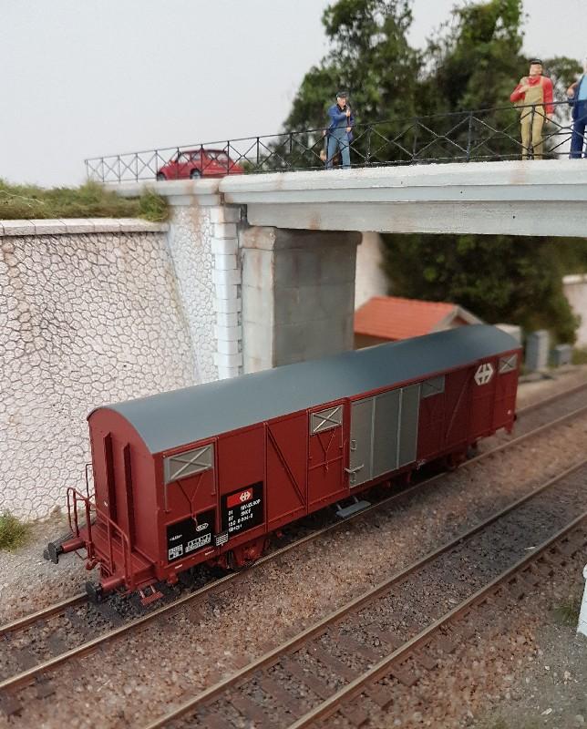 Wagon couvert Gbs Exact Train