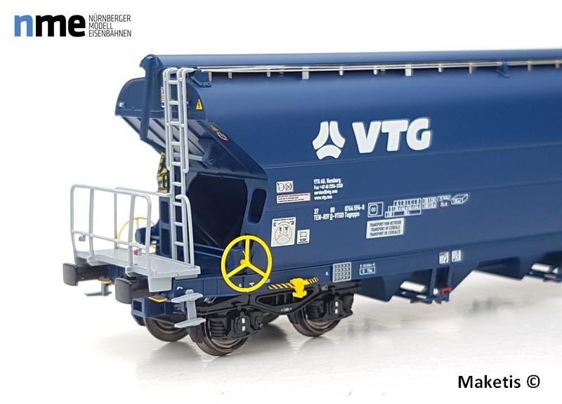 wagont VTG avec feux de fin de convoi