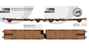 Les nouveaux wagons plats couplés Laads/Laaps Transwaggon NME en HO