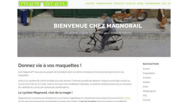 New official Magnorail website