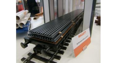 Les profilés de Rail gris acier Maquett en styrène